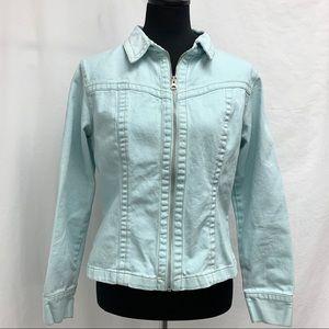 CAbi light blue denim jacket style 254